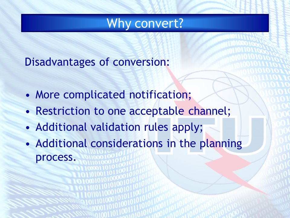 Why convert.
