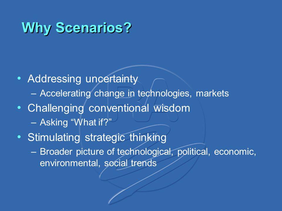 Why Scenarios.