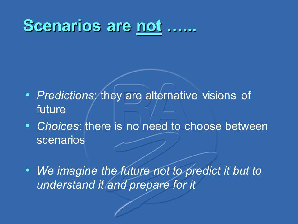 Scenarios are not …...