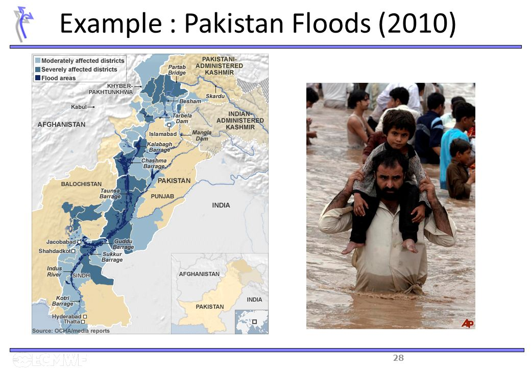 28 Example : Pakistan Floods (2010)