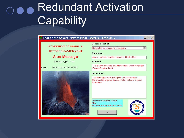 Redundant Activation Capability