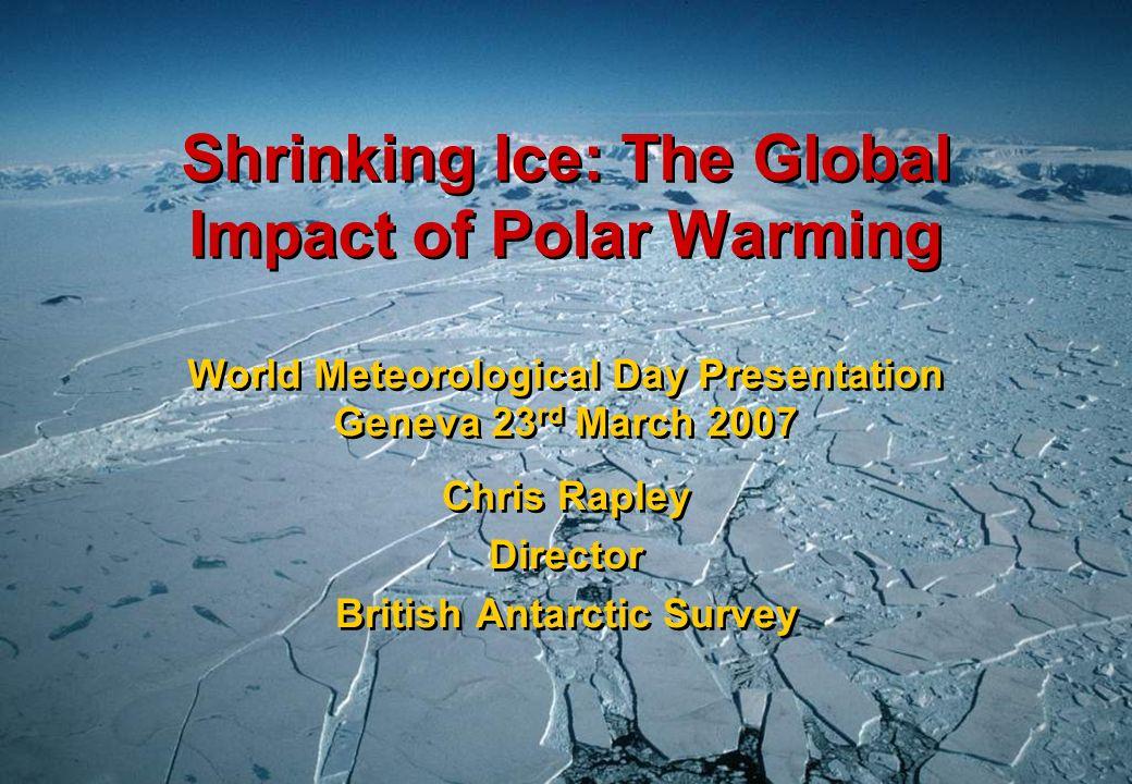Antarctic Peninsula Glacier Responses 244 glaciers : 87% have retreated over last 50y Cook et al., 2005