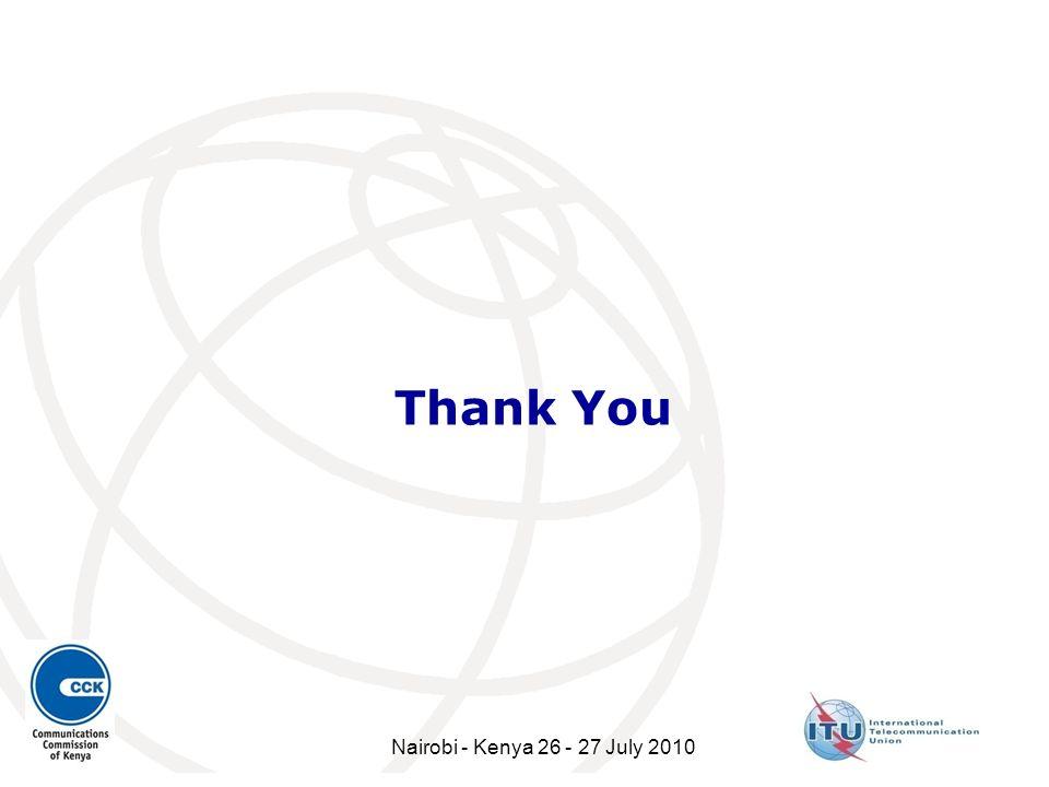 Thank You Nairobi - Kenya 26 - 27 July 2010