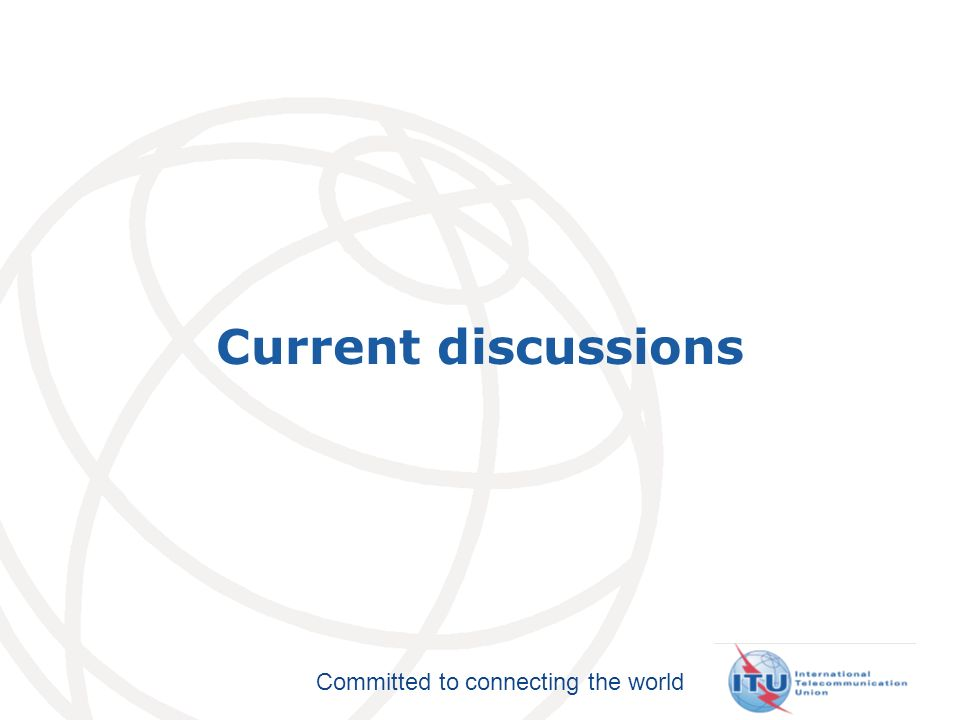 Committed to connecting the world ITU-T A.1 Work methods for study groups of the ITU Telecommunication Standardization Sector (ITU-T) Scope Definitions Responsibilities of Rapporteurs JCAs / GSIs Contributions & TDs