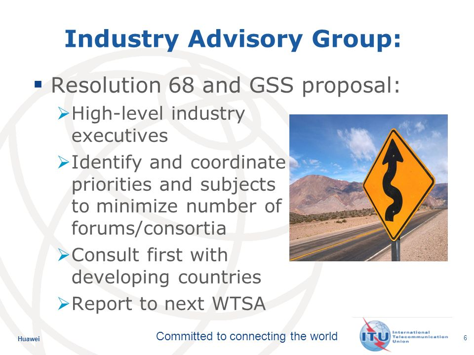 Huawei Committed to connecting the world 17 ITU-Ts quantum leaps in speech, audio and video quality Emmy award received on behalf of ISO, IEC & ITU Call for technical contributions for H.265 Extension of work on speech coding to wideband