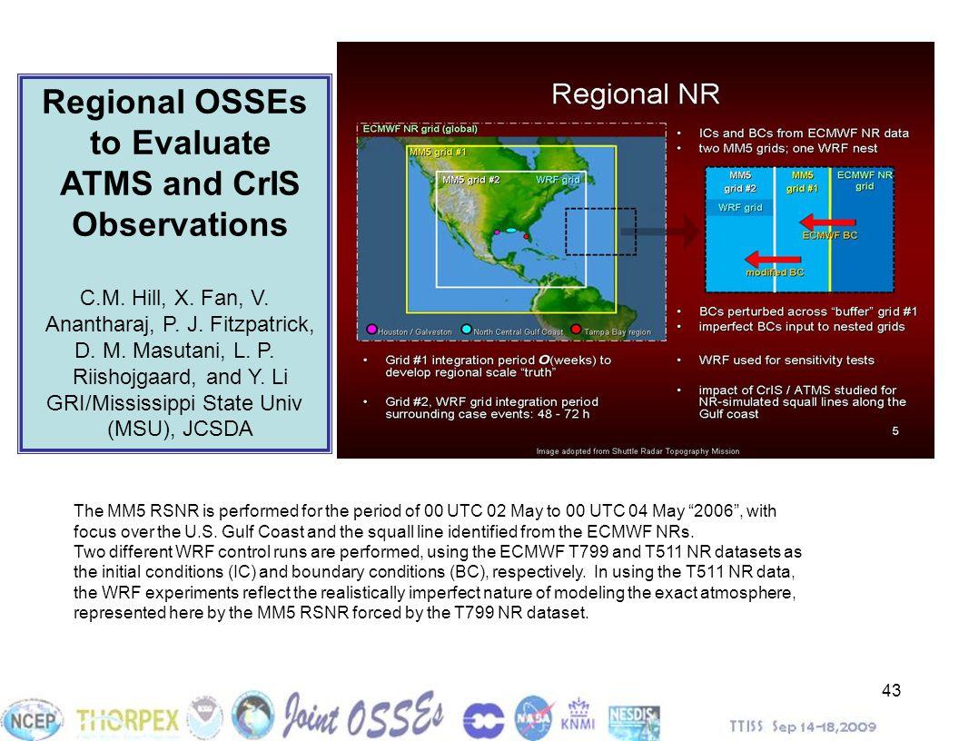 43 Regional OSSEs to Evaluate ATMS and CrIS Observations C.M. Hill, X. Fan, V. Anantharaj, P. J. Fitzpatrick, D. M. Masutani, L. P. Riishojgaard, and
