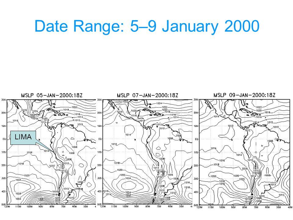 Date Range: 5–9 January 2000 LIMA