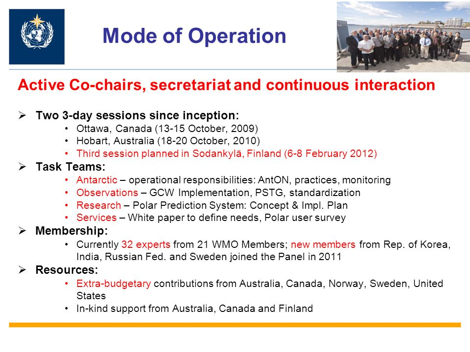 Operating Principles Collaboration/Engagement is essential for Polar regions to develop sound and sustainable activities.