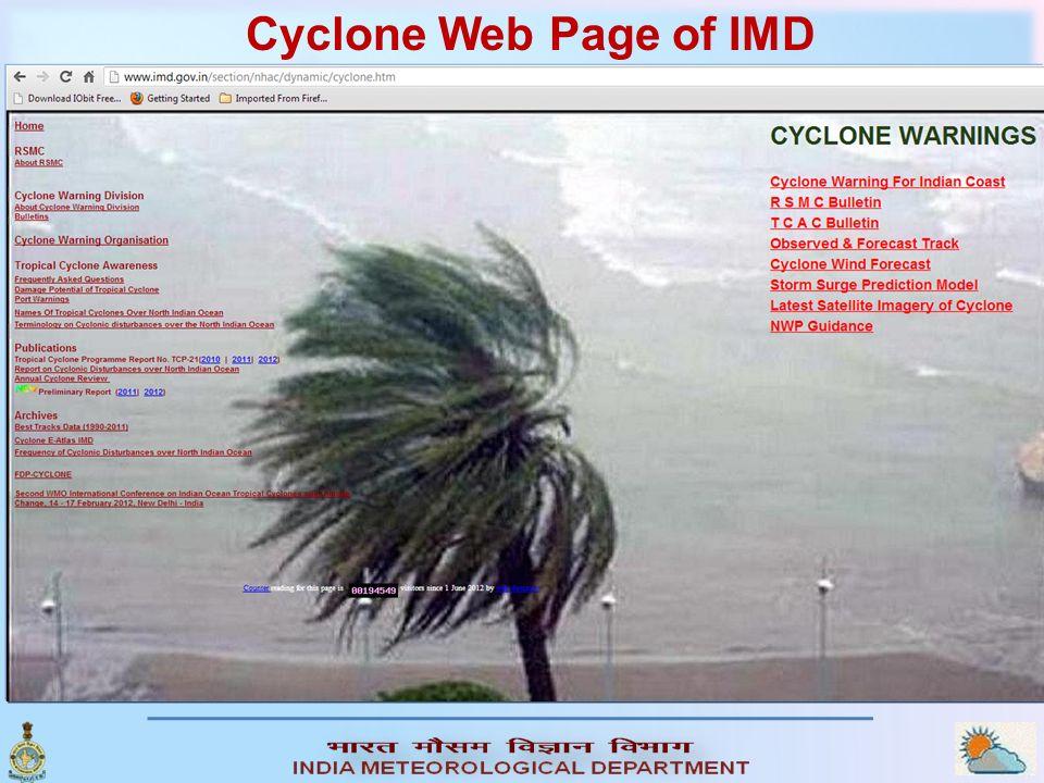 Cyclone Web Page of IMD