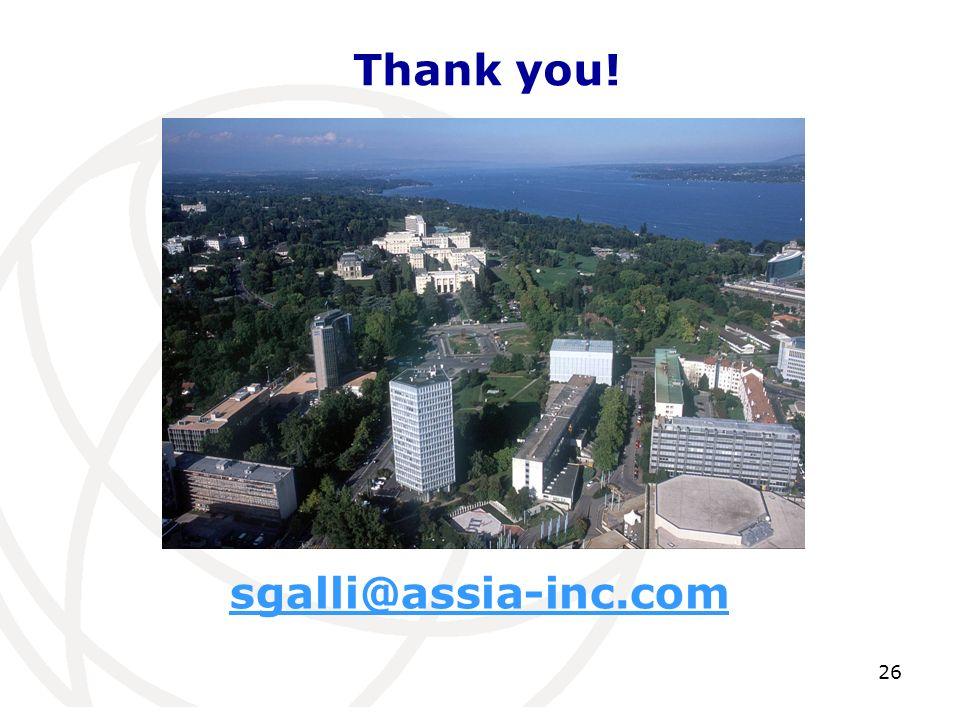 sgalli@assia-inc.com Thank you! 26