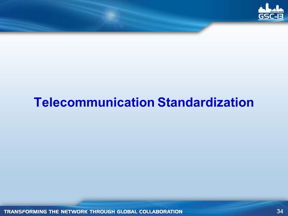 34 Telecommunication Standardization