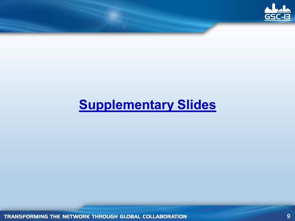 9 Supplementary Slides