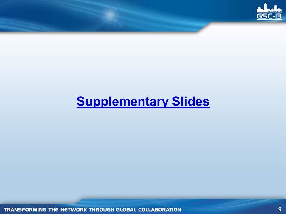 9 Supplementary Slides