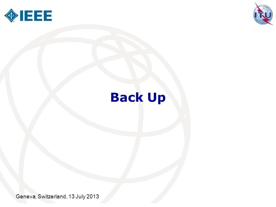 Geneva, Switzerland, 13 July 2013 Back Up