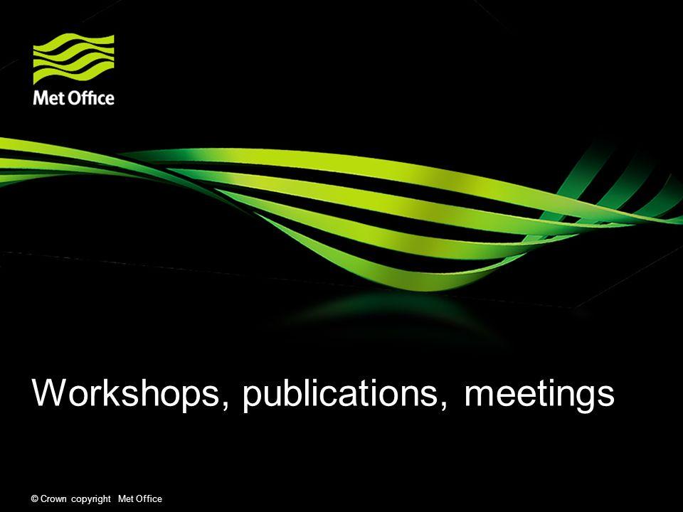 Workshops, publications, meetings