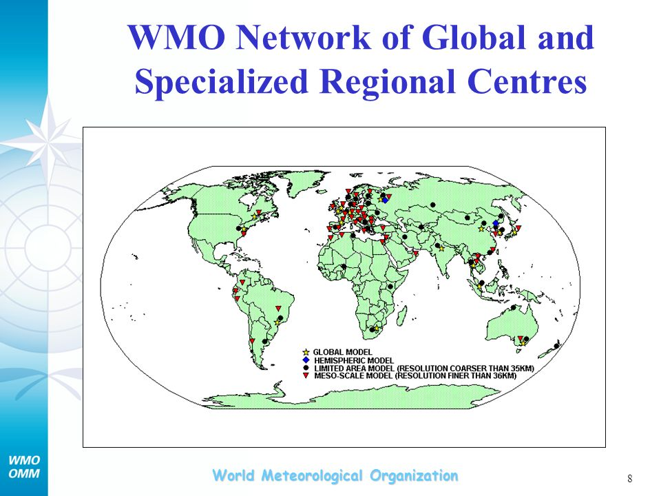 World Meteorological Organization 8 WMO Network of Global and Specialized Regional Centres