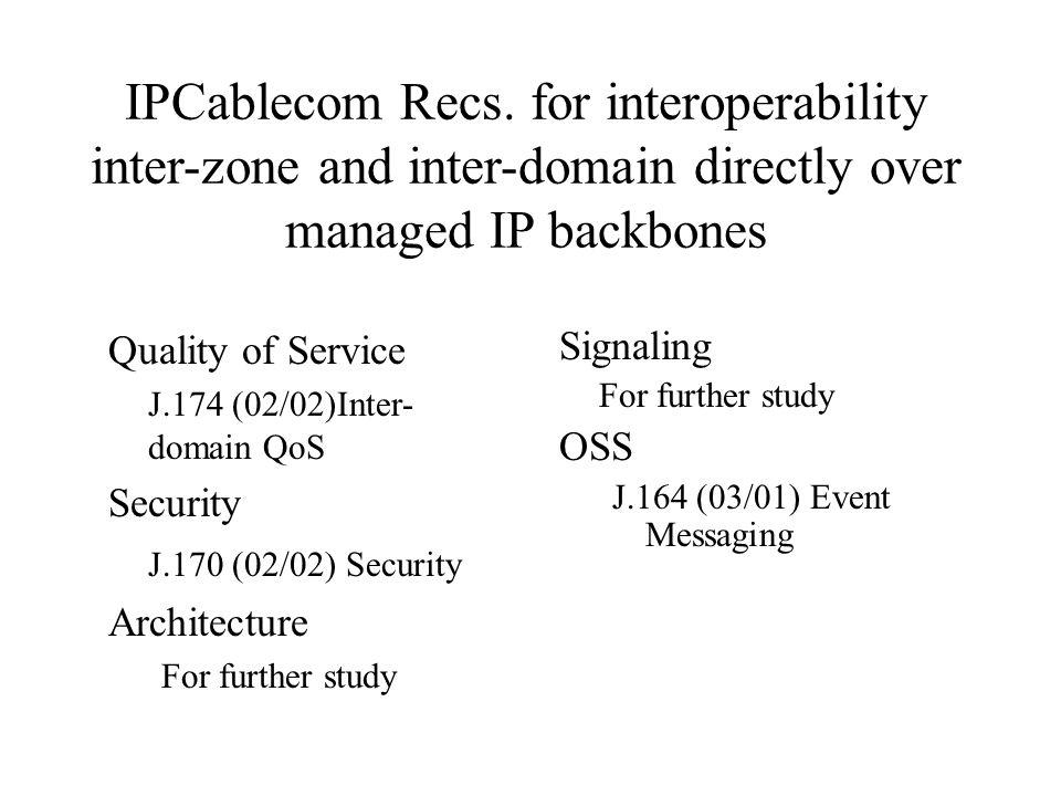 IPCablecom Recs.