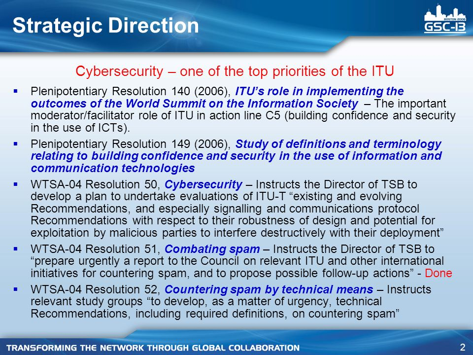 43 SG 17 – Q.6/17 highlights of activities No.Title X.1205Overview of Cybersecurity X.1206A vendor-neutral framework for automatic checking of the presence of vulnerabilities information update X.1207Guidelines for Internet Service Providers and End- users for Addressing the Risk of Spyware and Deceptive Software X.1250*Requirements for global identity management trust and interoperability X.1303Common Alerting Protocol (CAP 1.1) Completed Recommendations * Currently in the approval process