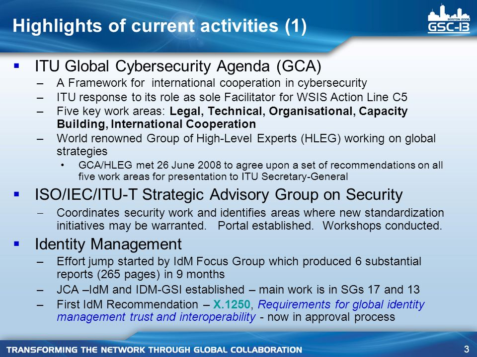 74 SG 17 – Q.17/17 highlights of activities Approved Recommendations No.Title X.1231Technical Strategies on Countering Spam X.1240Technologies involved in countering email spam X.1241Technical framework for countering email spam X.1244*Overall aspects of IP multimedia application spam * Currently in approval process