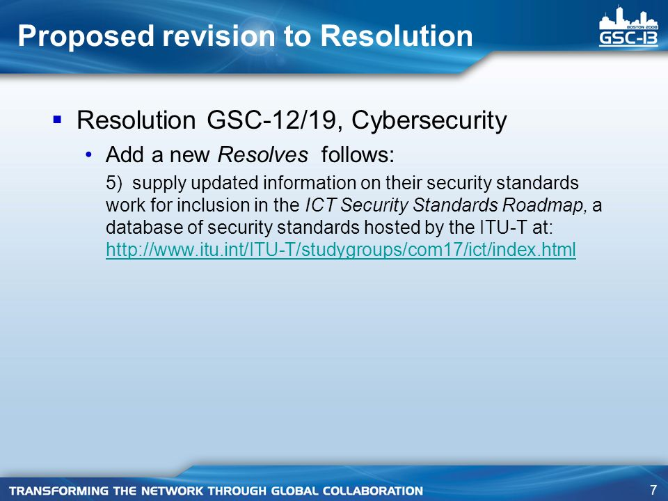 28 SG 17 – Q.4/17 results achieved Successful workshop organized at start of Study Period to consider future direction of security standards Security Standards Roadmap developed – includes security standards from ITU, ISO/IEC, IEEE, IETF, ATIS, ETSI, OASIS, 3GPP Security Compendium and Security Manual maintained and updated Security Baseline for Network Operators developed