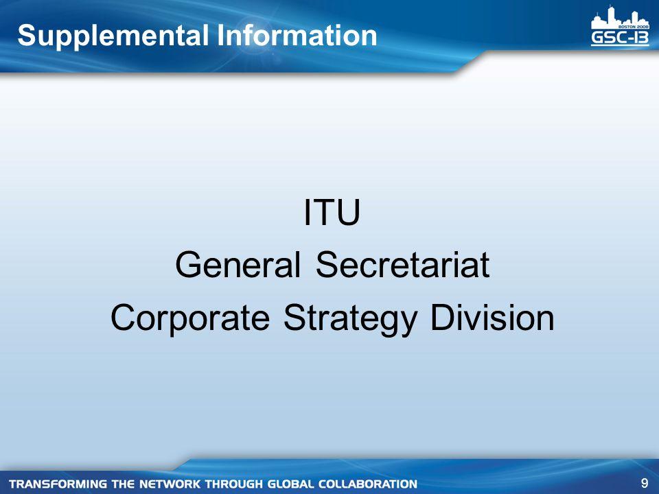 150 Supplemental Information ITU-R Radiocommunication Sector