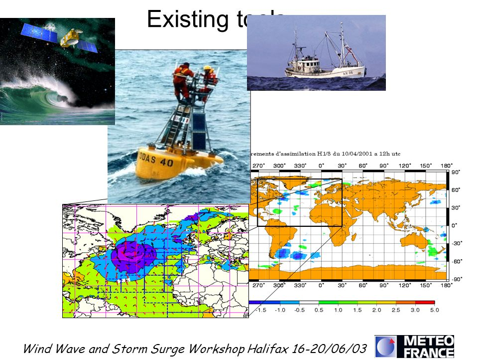 Wind Wave and Storm Surge Workshop Halifax 16-20/06/03 Existing tools