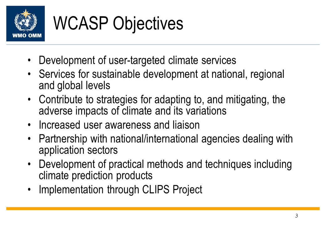 WMO OMM 14 Global Producing Centres of LRF In 2006, nine centres making global seasonal forecasts were designated as WMO Global Producing Centres (GPCs) GPCs adhere to defined standards – aiding consistency and usability of output: –a fixed forecast production cycle –a standard set of forecast products –WMO-defined verification standards (for retrospective forecasts) GPCs designated: Beijing, ECMWF, Exeter, Melbourne, Montreal, Moscow (pending), Seoul, Tokyo, Toulouse, Washington Access to all GPCs can be found through WMO page: http://www.wmo.int/pages/prog/wcp/wcasp/clips/producers_forecasts.html http://www.wmo.int/pages/prog/wcp/wcasp/clips/producers_forecasts.html A comprehensive set of standard verification measures, with which to communicate the skill of forecasts, has been defined (the WMO Standard Verification System for Long-Range Forecasts – SVSLRF)