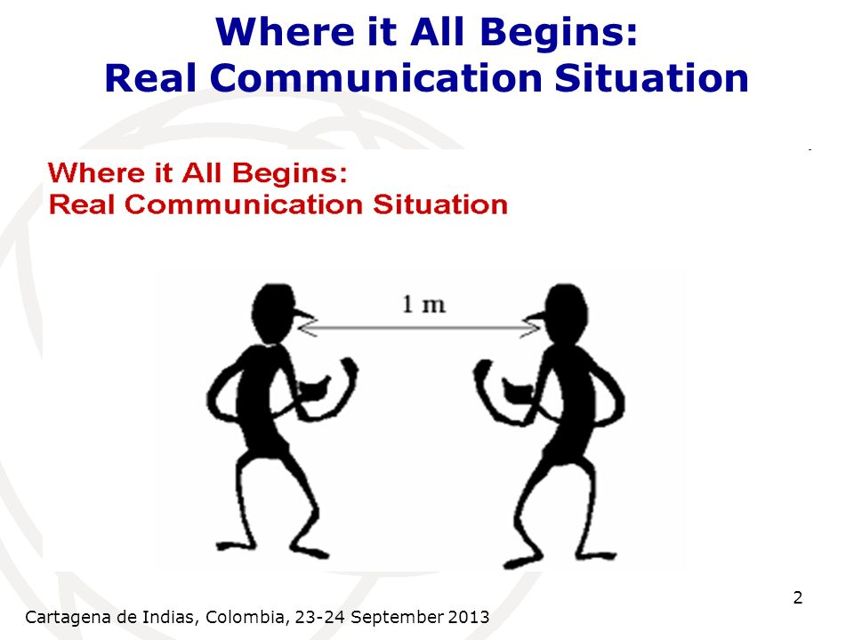 Cartagena de Indias, Colombia, September Where it All Begins: Real Communication Situation