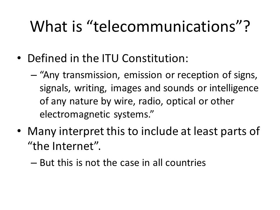 What is telecommunications.