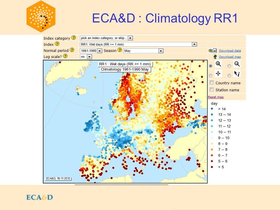 2009 ECA&D : Climatology RR1