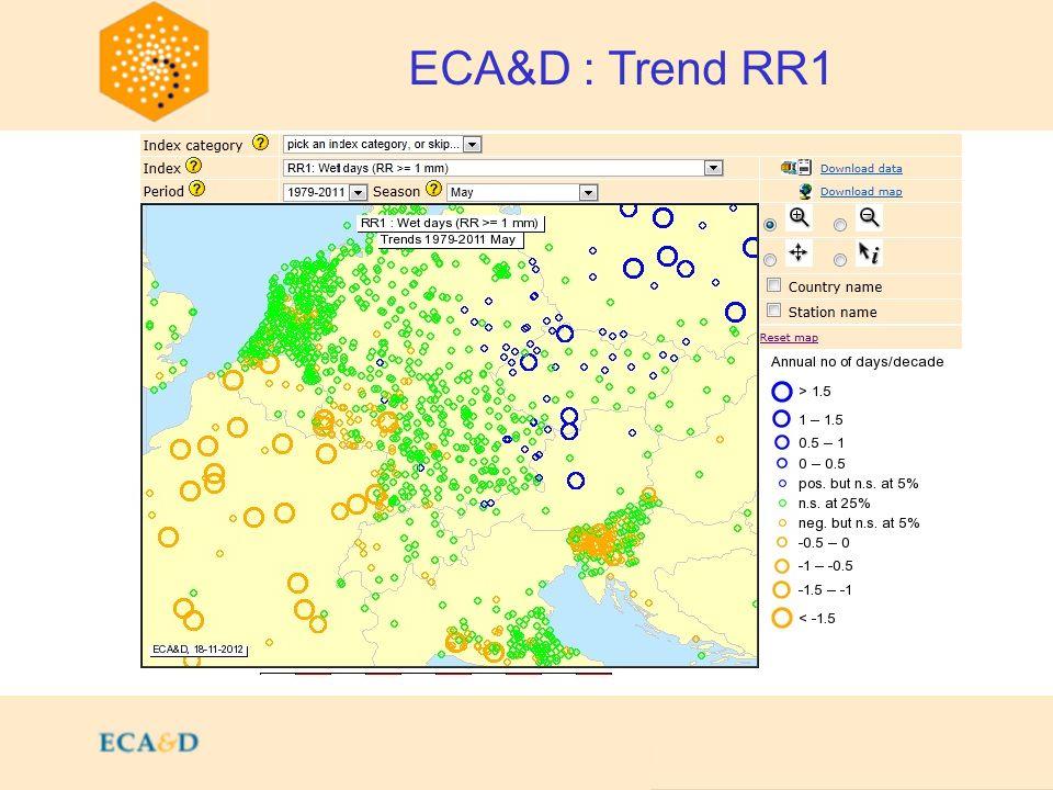 2009 ECA&D : Trend RR1