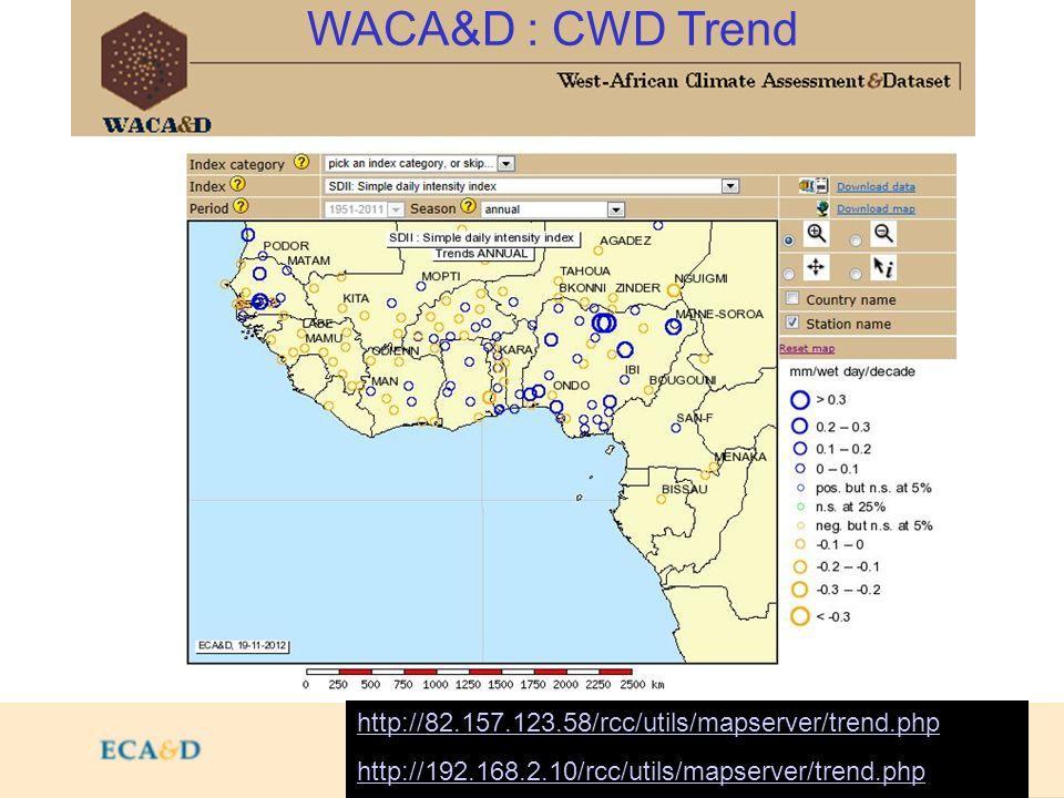 WACA&D : CWD Trend http://82.157.123.58/rcc/utils/mapserver/trend.php http://192.168.2.10/rcc/utils/mapserver/trend.php