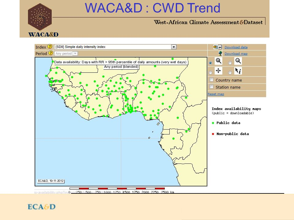 2009 WACA&D : CWD Trend http://82.157.123.58/rcc/utils/mapserver/index-availability.php http://192.168.2.10/rcc/utils/mapserver/index-availability.php