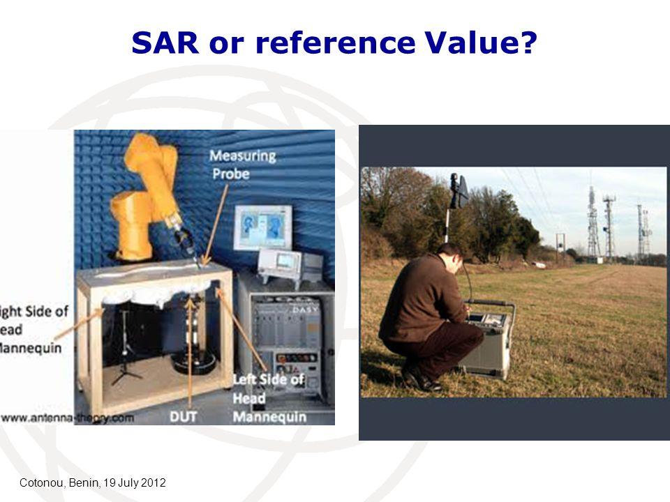 SAR or reference Value? Cotonou, Benin, 19 July 2012