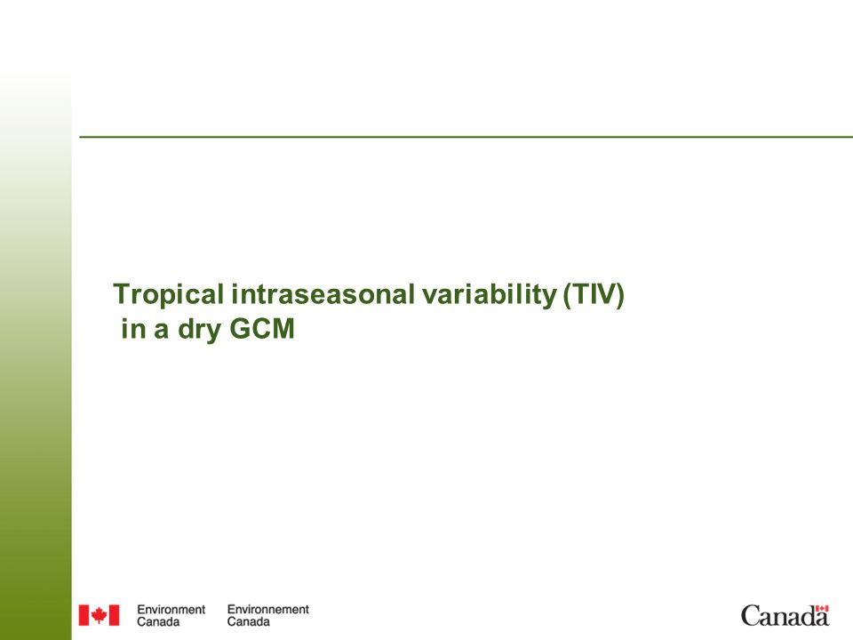 Tropical intraseasonal variability (TIV) in a dry GCM
