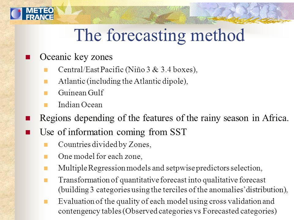 Statistical products http://www.cpc.ncep.noaa.gov/products/african_desk/index.html