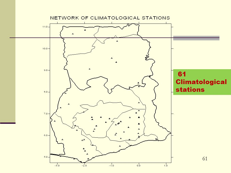 61 61 Climatological stations