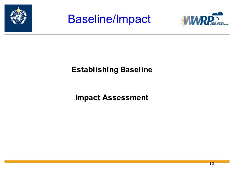 10 Baseline/Impact Establishing Baseline Impact Assessment