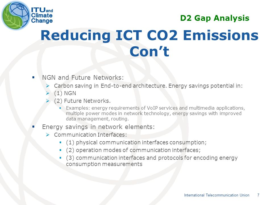 Use of ITU-T Standards to mitigate climate change (contd) Tag-based identification Applications and Services Tag-based identification applications and services are one of the key ICT solutions which can be used for lifecycle management for ICT products and for products in other sectors.