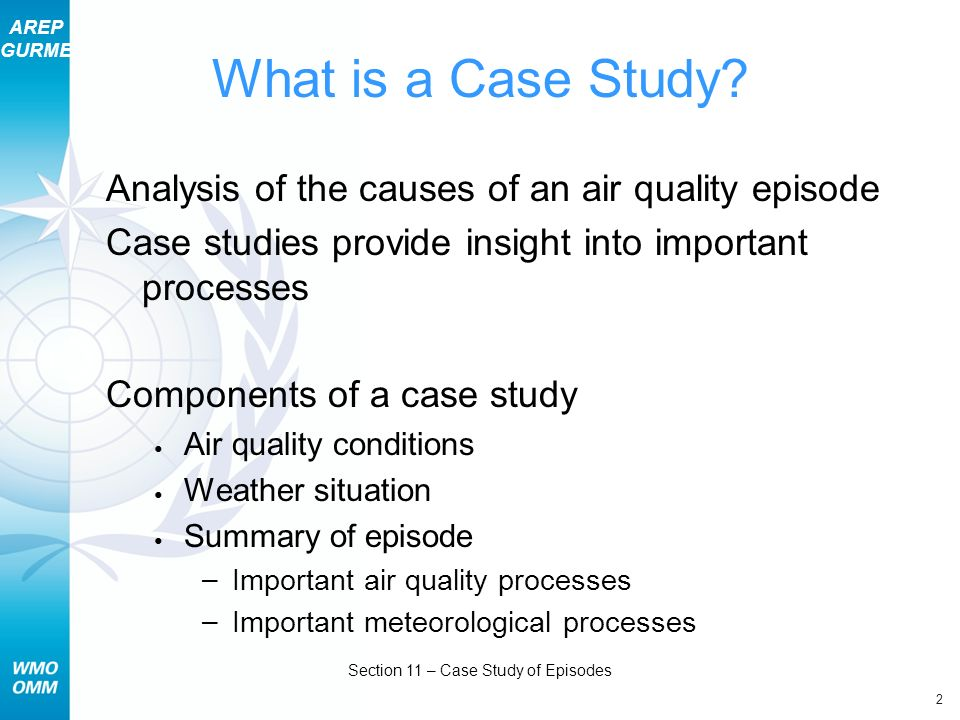 AREP GURME 2 Section 11 – Case Study of Episodes What is a Case Study.
