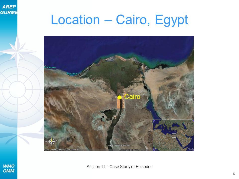 AREP GURME 6 Section 11 – Case Study of Episodes Location – Cairo, Egypt Cairo