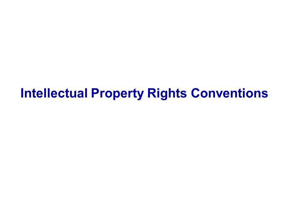 Intellectual Property Rights Conventions