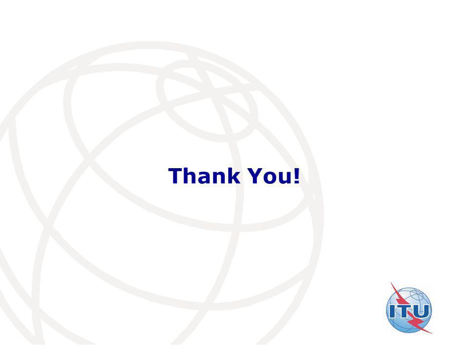 International Telecommunication Union Thank You!