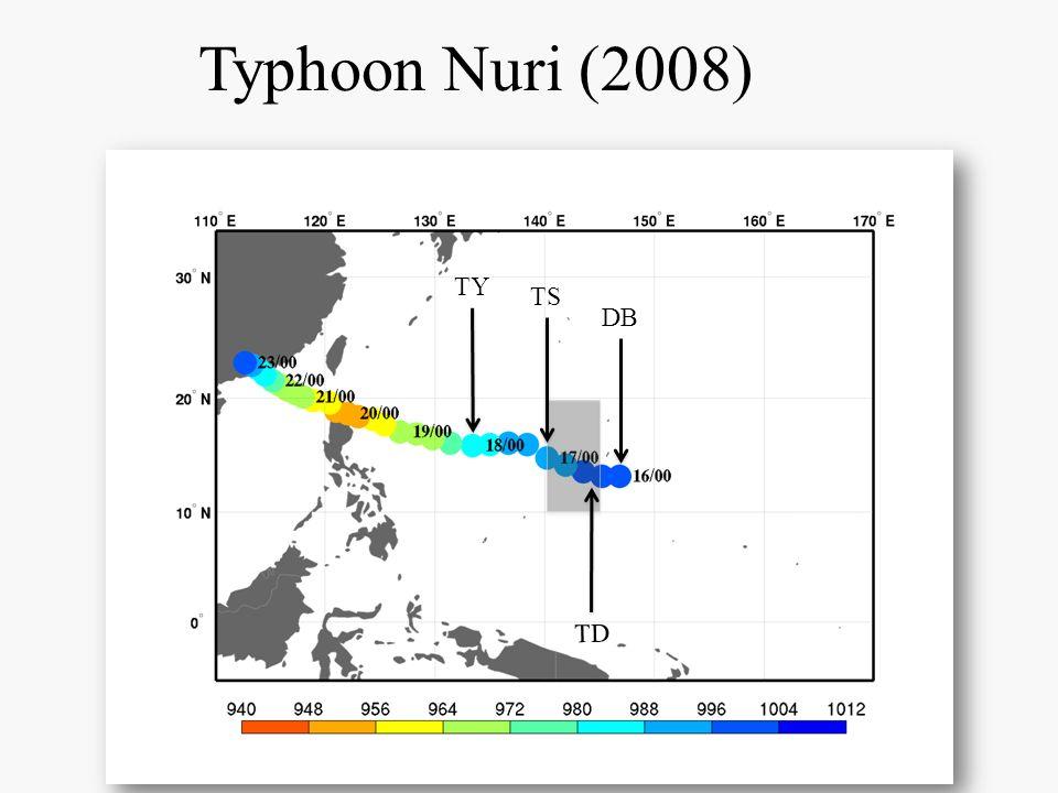 Typhoon Nuri (2008) DB TY TS TD