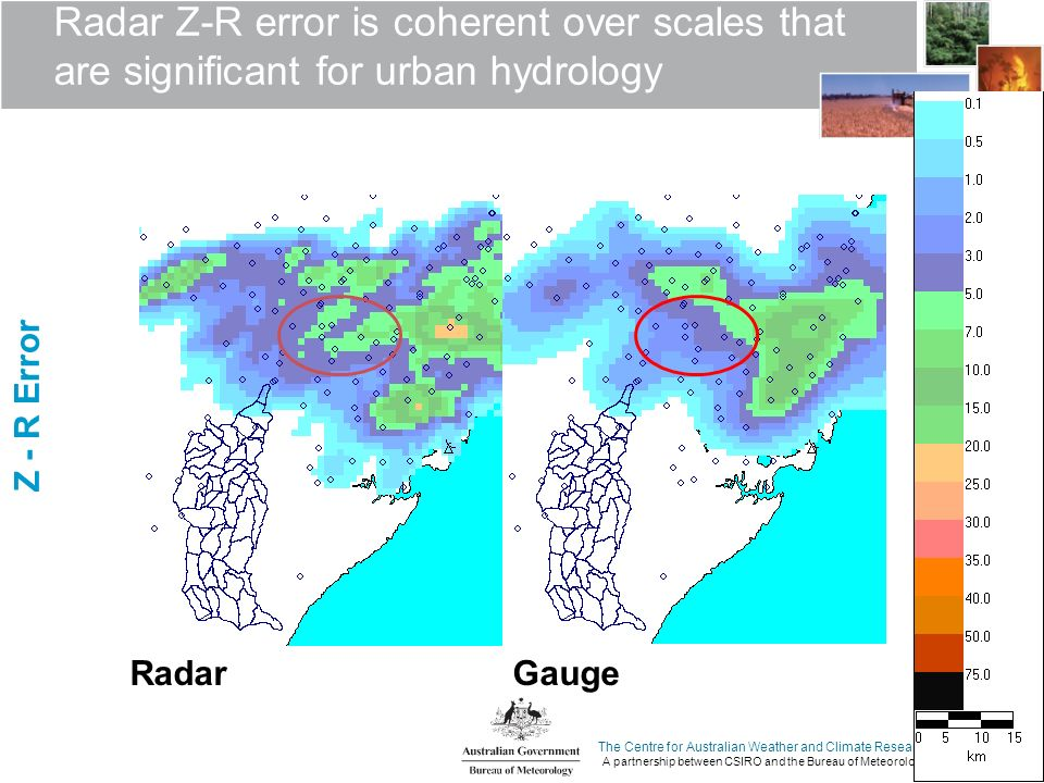The Centre for Australian Weather and Climate Research A partnership between CSIRO and the Bureau of Meteorology Radar Z-R error is coherent over scal