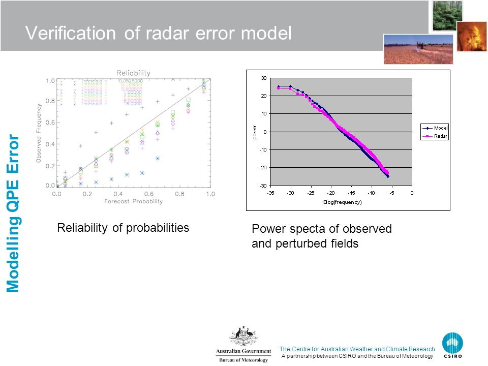 The Centre for Australian Weather and Climate Research A partnership between CSIRO and the Bureau of Meteorology Verification of radar error model Rel