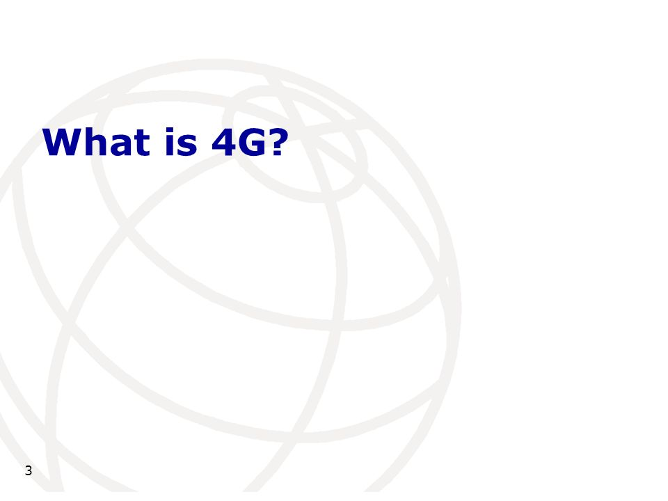 What is 4G 3