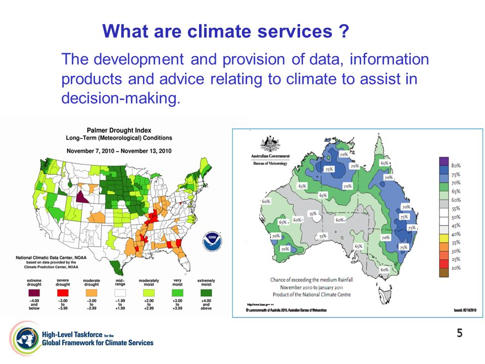 What are climate services .
