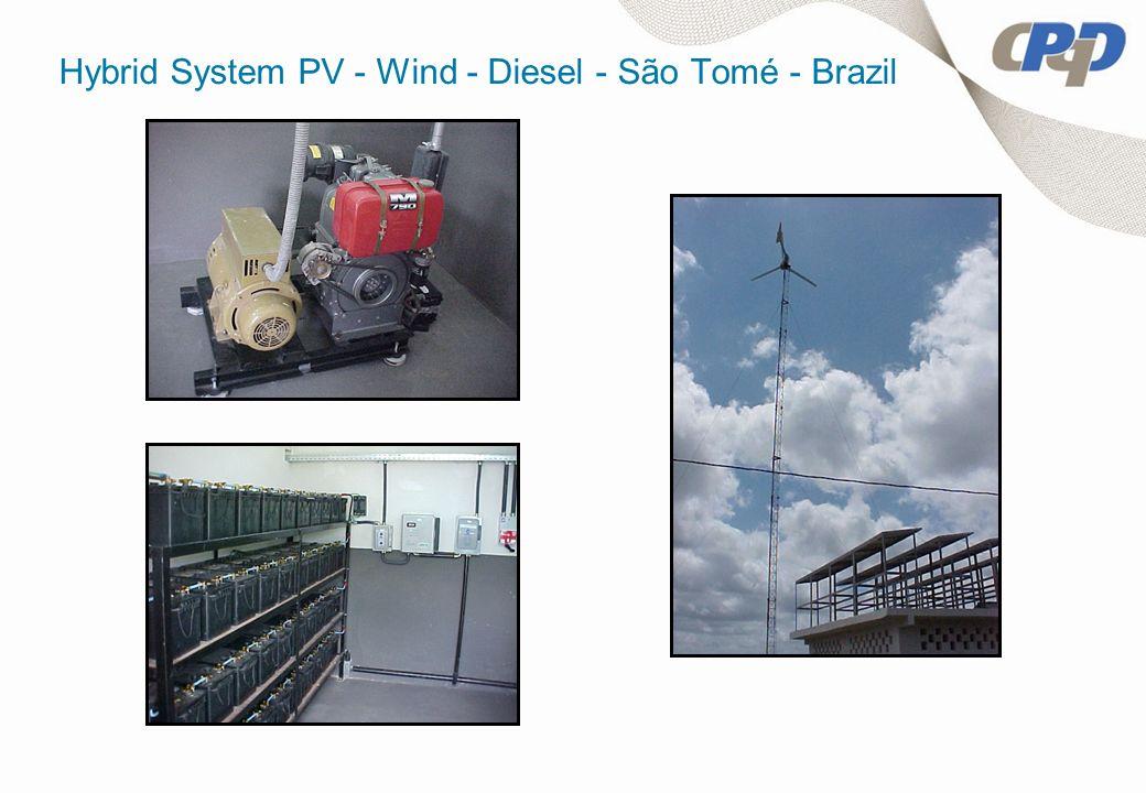 Hybrid System PV - Wind - Diesel - São Tomé - Brazil