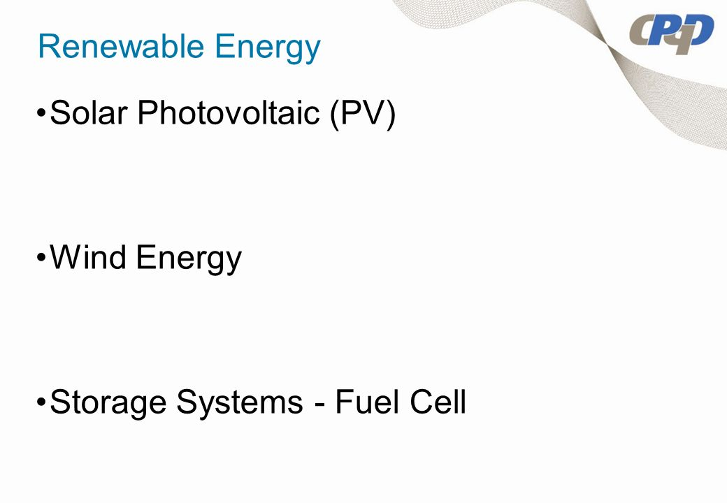 Renewable Energy Solar Photovoltaic (PV) Wind Energy Storage Systems - Fuel Cell
